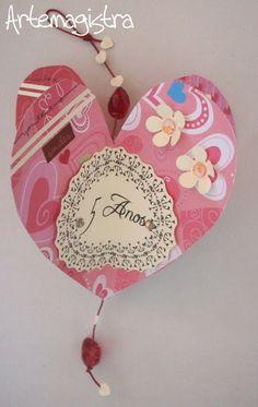 Móbile coração. ArteMagistra.com.br