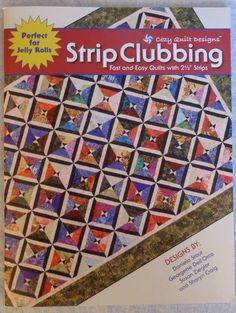 Book Strip Clubbing by Cozy Quilt by SuesFabricNSupplies on Etsy, $17.95