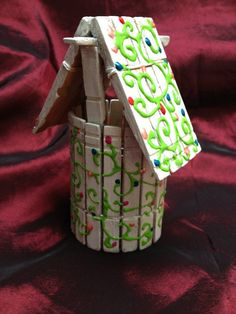 Hand Painted Clothes Pin Wishing Well by ReprievesCorner on Etsy, $4.99