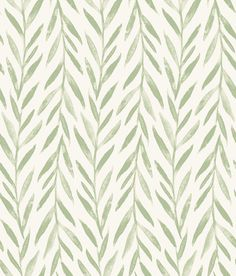 Magnolia Home Willow Green Wallpaper Stripped Wallpaper, Green Wallpaper, Modern Wallpaper, Peel And Stick Wallpaper, Pattern Wallpaper, Wallpaper Designs, Bathroom Wallpaper, Home Wallpaper, Farmhouse Wallpaper