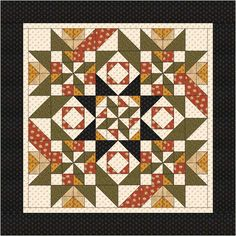 The quilt made was called Citrus Surprise - orange, lemon and lime colouring. This was an EQ doodle alternative. Two simple blocks, extended into the border.