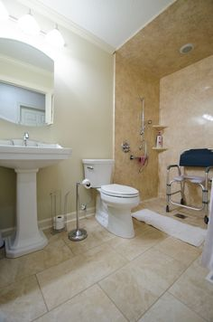 Universal Design, Aging in Place Design, Handicap Accessible Walk-in Shower, No threshold walk in shower, Bathroom Remodel, Handicap Remodel, Brought to you by Re-Bath of the Triad