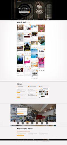 CREATIV'LINK  Création d'un site internet qui permet aux agences de trouver rapidement un freelance en fonction de leurs besoins. Conception en binôme avec Esther Maarek (conceptrice rédactrice)  http://creativlink.fr