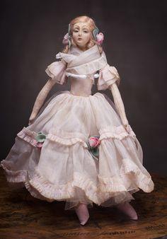 Итальянская Будуарная/салонная кукла LENCI, 1933 год