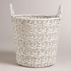 Whitewashed Ashlyn Tote Basket