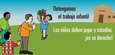 De Unicef Panama: en el día internacional contra el trabajo infantil. Los niños, niñas y adolescentes, tienen derecho a jugar y a estudiar.