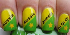 Australia Day is around the corner. Australia Day nails would be perfect for any outfit. Choose an Australia Day Nail Art designs that is creative and of unique design. Crazy Nail Designs, Nail Art Designs, Nails Design, Gorgeous Nails, Pretty Nails, Hair And Nails, My Nails, Flag Nails, Picture Polish