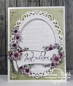 card by Deneen Treble.... would be lovely for a wedding card