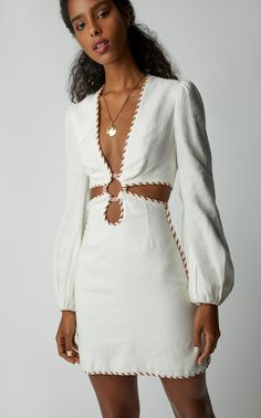 Get inspired and discover Zimmermann trunkshow! Shop the latest Zimmermann collection at Moda Operandi. Fashion Details, Look Fashion, Girl Fashion, Fashion Dresses, Womens Fashion, Fashion Design, Day Dresses, Short Dresses, Looks Chic