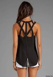 Cutout Sleeveless Top in Black Cool Outfits, Summer Outfits, Casual Outfits, Diy Fashion, Fashion Outfits, Fashion Design, Revolve Clothing, Couture, Clothing Patterns