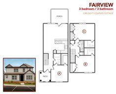 3 bedroom, 3 bath Fairview