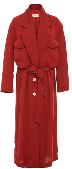 ARIAS Linen Belted Trench Coat
