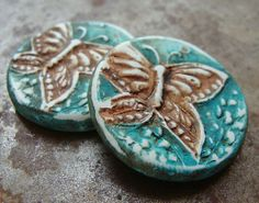 Bright Sky Butterfly Pendant by HUMBLEBEADS | Polymer Clay Planet