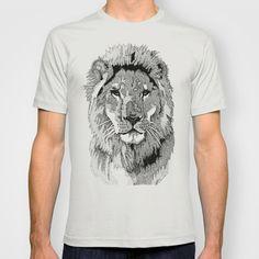 Animal Prints - Proud Lion - By Sharon Cummings T-shirt by Sharon Cummings - $22.00
