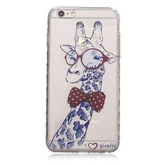 iPhone 6s Plus Case,Ultra Thin Slim Flexible Soft Clear TPU Extra Grip Anti-Scratch Protective Transparent Border Back Cover for iPhone 6 Plus/6s Plus 5.5 inch Screen (Giraffe). Perfect Cuts - Specially designed for both iPhone 6Plus and iPhone 6s Plus, the case has precise cutouts for speakers, charging ports, audio ports and buttons. Show Your True Color - Transparent body reveals and enhances the original color and design of the iPhone 6 Plus/6S Plus. Perfectly made to prevent dust…