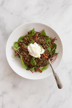 PACKED LUNCH MONDAYS: PUY LENTIL SALAD WITH RED CHARD AND SUNDRIED TOMATOES