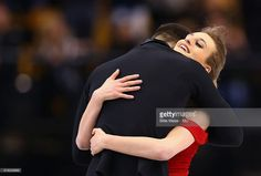 Gabriella Papadakis and Guillaume Cizeron compete during Day 3 of the ISU World Figure Skating Championships 2016 at TD Garden on March 30, 2016 in Boston, Massachusetts.