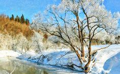 I uploaded new artwork to fineartamerica.com! - 'Frozen River In Winter' - http://fineartamerica.com/featured/frozen-river-in-winter-lanjee-chee.html via @fineartamerica