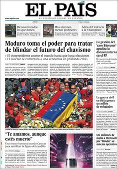 Los Titulares y Portadas de Noticias Destacadas Españolas del 6 de Marzo de 2013 del Diario el País ¿Que le pareció esta Portada de este Diario Español?