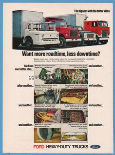 1970 Ford Heavy Duty Trucks Vintage Photo Ad