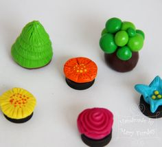 Fairy garden. Polymer clay figures set. Toys with magnets. by MaryFurdey on Etsy