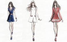 If Zooey Deschanel had a uniform, it would consist of adorable, vaguely retro A-line fit and flare dresses. And that's just what her capsule collection — designed in collaboration with Tommy Hilfiger — looks like. Zooey Deschanel, Fashion Pants, New Fashion, Trendy Fashion, Fashion Models, Runway Fashion, Tommy Hilfiger, Illustration Mode, Spring Fashion Trends