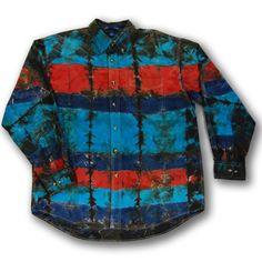 2Dye4 XL Southwest Tie Dye Button Down Dress Shirt
