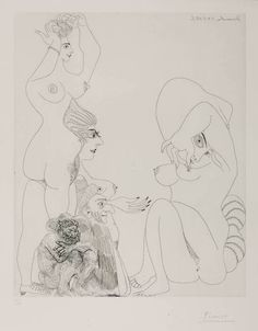 Pablo Picasso, Etching, 24 March 1968 II (L.6) 1968