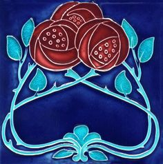 art nouveau tile, very Mackintosh | JV