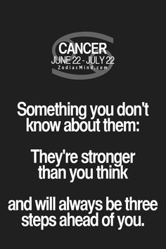 Something you don't know about Cancer Zodiac Sign♋...
