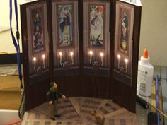 The part of the 4 part Disneyland Haunted Mansion Diorama set is the Stretching Room. This was a quick build based upon 4 bookmarks avai. Haunted Mansion Decor, Haunted Mansion Halloween, Halloween Village, Halloween Home Decor, Diy Halloween Decorations, Halloween House, Disney Halloween, Holidays Halloween, Scary Halloween
