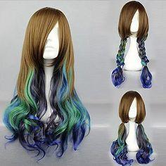 lolita+parrucca+ispirato+allo+stile+Victoria+Brown+&+cyan+Paese+colore+misto+–+USD+$+29.99