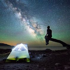 Camping under the stars along the Lost Coast Trail in #California  Photo: @travisburkephotography #wildernessculture