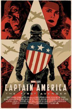 Captain America: The First Avenger by Francavilla Films Marvel, Marvel Movie Posters, Avengers Poster, The Avengers, Avengers Movies, Movie Poster Art, Marvel Art, Marvel Cinematic, Poster Marvel