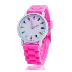 Candy Pill Toxic Watch (12 AUD) ❤ liked on Polyvore featuring jewelry and watches