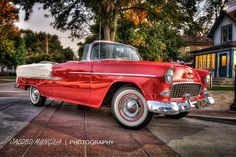 1955 Chevy bel air Convertible HDR