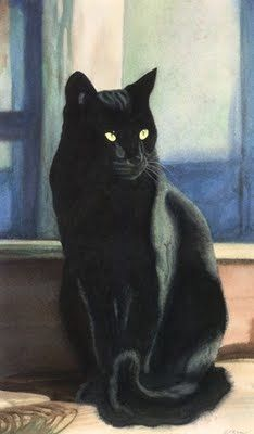 Black Beauty- Braveheart Canaloupe Mr Bingham Manatee Milk Drop Bikini and the three next door without names but love to play and visit Hemingway. I Love Cats, Crazy Cats, Cute Cats, Animal Gato, Mundo Animal, Black Cat Art, Black Cats, Black Cat Painting, Black Kitty