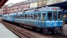 "SJ ""Roslagsbanan"" at Östra station in Stockholm Train Light, U Bahn, Light Rail, Stockholm, Cali, Street, Vehicles, Car, Walkway"