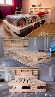 Lits en palette   : Idées imaginatives avec de vieilles palettes en bois