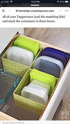 Genius Food Storage Container Hacks Say goodbye to chaotic cabinets and hello to easy organization! Utilize every inch of cabinetry space with these genius food storage container hacks that will keep your supplies organized and easy to access. Tupperware Organizing, Organizing Hacks, Organisation Hacks, Diy Hacks, Tupperware Storage, Food Storage Organization, Organizing Ideas For Kitchen, Pantry Storage, Clever Kitchen Ideas
