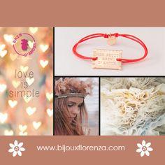 """Bracelet """"mon petit brin d'amour"""" dispo en doré ou argenté chez www.bijouxflorenza.com  #bijouxflorenza #brindamour #bracelet #bijouxfantaisie #madeinfrance"""