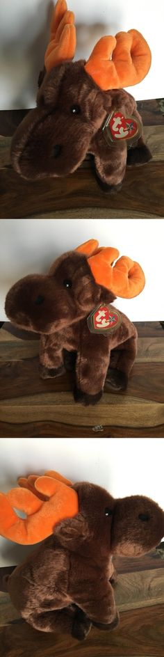 63d79e359a0 Pillow Pals 1633  Ty Beanie Baby 1999 Pillow Pals Chocolate The Moose 14  Plush Retired