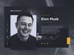 Daily UI #006 - Elon Musk User Profile.