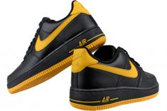 quality design 7e14d 114ac Product Details for NIKE Air Force 1 488298 003 Black   Varsity Maize The  Nike Air