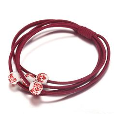 Fashion New Brand Classic Pearls Elastic Porcelain beads hand-painted  Top Quality Fashion  Elastic Hair Rope Bands  Accessories