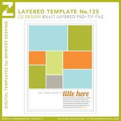 Cathy Zielske's Layered Template No. 125 - Digital Scrapbooking Templates - Cathy Zielske