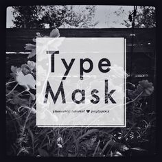Photoshop Type Mask