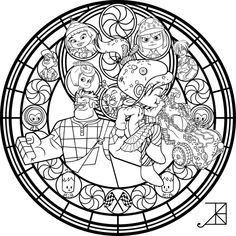 Vanellope Stained Glass -line art- by Akili-Amethyst.deviantart.com on @DeviantArt