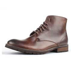 77.76$  Buy now - http://aliyz8.worldwells.pw/go.php?t=32731202539 - 2016 men martin boots first grade genuine cow leather lace up working boot all in american style vintage working shoes stivali 77.76$