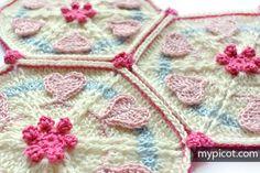 crochelinhasagulhas: Ponto de crochê (coração e flor)
